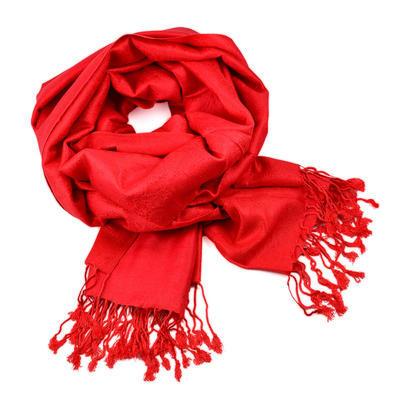 Šála teplá 69cz001-20 - červená jednobarevná