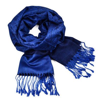 Šála teplá 69cz001-36 - modrá jednobarevná