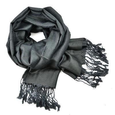 Classic cashmere scarf - dark grey