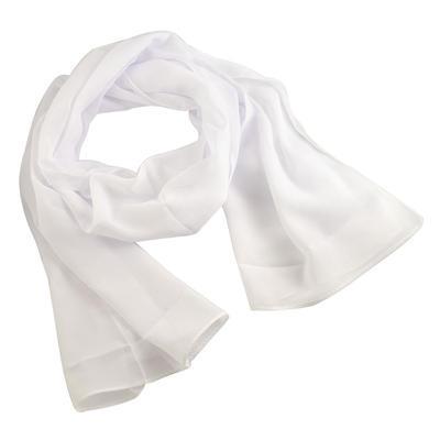 Šála vzdušná 69kl001-01 - bílá jednobarevná