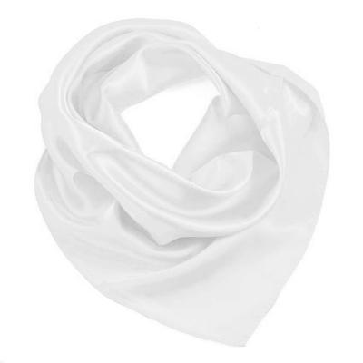 Šátek saténový 63sk001-01 - bílý