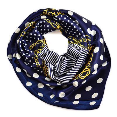 Small neckerchief 63sk003-36 - dark blue - 1