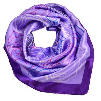 Small neckerchief 63sk004-33 - violet - 1