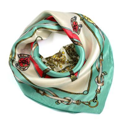 Small neckerchief 63sk009-01.54 - white and menthol - 1