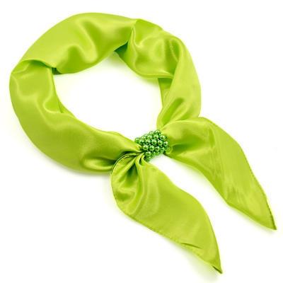 Šátek s bižuterií Letuška - zelený - 1