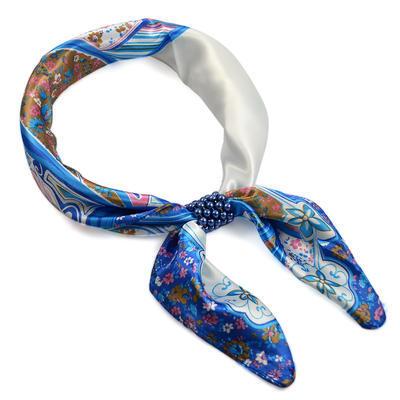 Šátek s bižuterií Letuška - bílomodrý - 1