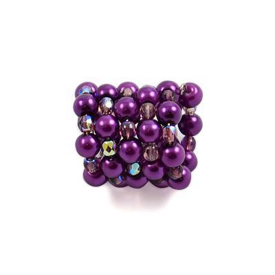 Spona na šátek 100sp33 - fialová - 1
