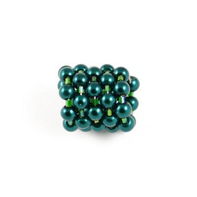 Spona na šátek - zelená - 1