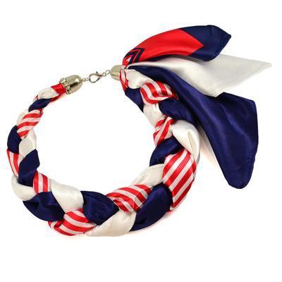 Šátek-náhrdelník Florina - modročervený - 1