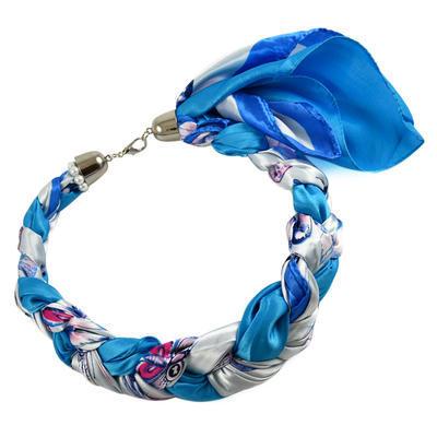 Šátek-náhrdelník Florina 299flo009-32.01 - modrobílý - 1