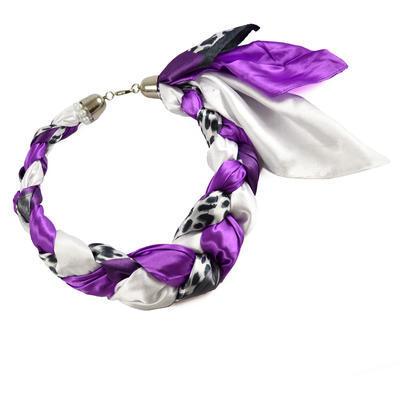 Šátek-náhrdelník Florina 299flo009-33.01 - fialovobílý - 1