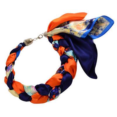 Šátek-náhrdelník Florina 299flo009-36.11 - modrooranžový - 1