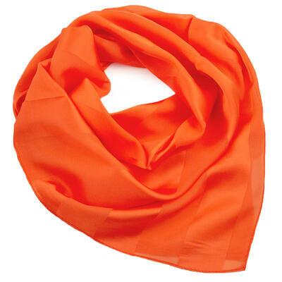 Šátek - oranžový jednobarevný