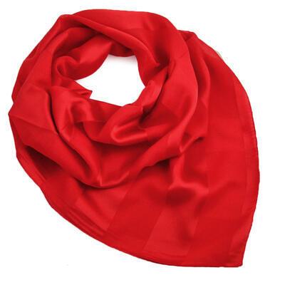 Šátek - červený jednobarevný