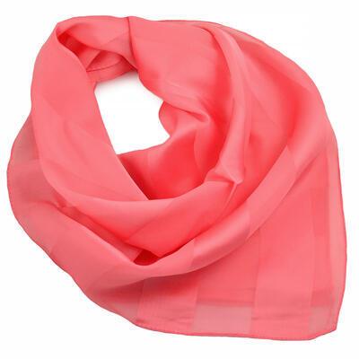 Šátek - korálový jednobarevný - 1