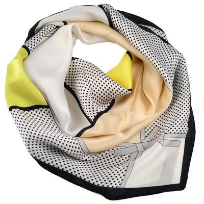 Šátek - bíložlutý - 1