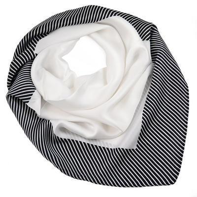 Šátek - černo-bílý s pruhy - 1