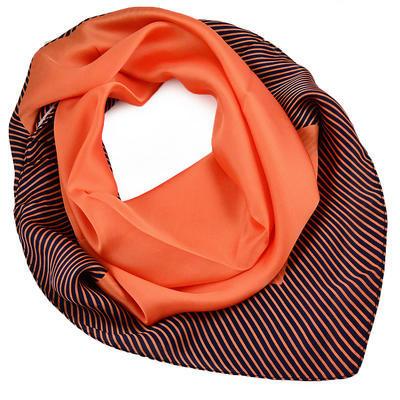 Šátek - oranžový s pruhy - 1
