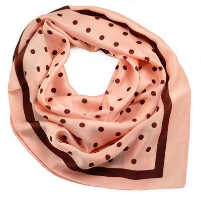 Šátek - růžový s puntíky - 1