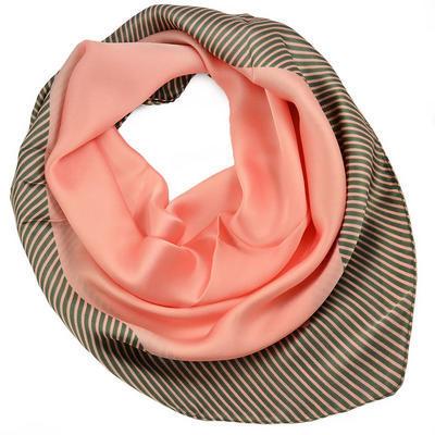 Šátek - růžový s pruhy - 1