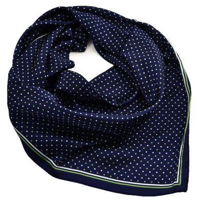 Šátek - modrozelený s puntíky - 1