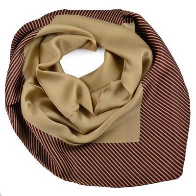 Šátek - hnědý s pruhy - 1