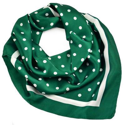 Šátek - zelený s puntíky - 1