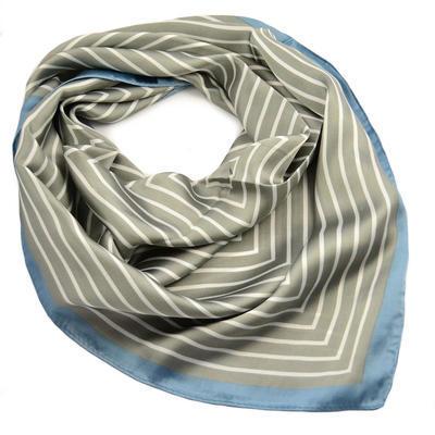 Šátek - šedomodrý s pruhy - 1