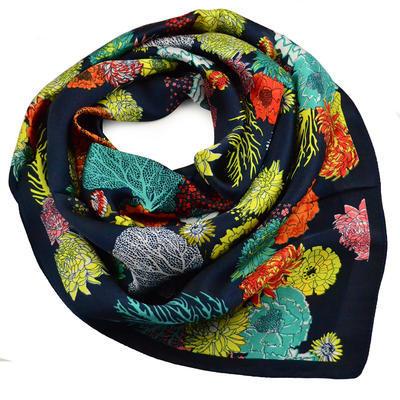 Šátek - tmavě modrý - 1