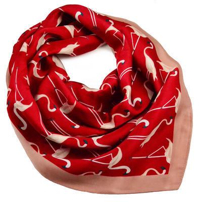 Šátek - červené plameňáci - 1