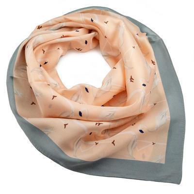 Šátek - růžovošedé plameňáci - 1