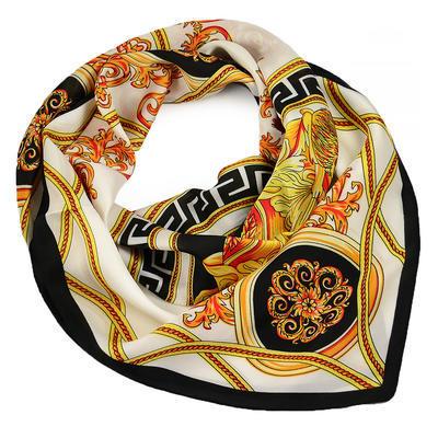 Šátek - bílý s potiskem - 1