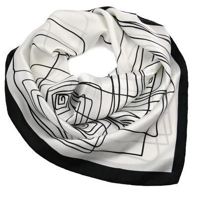Šátek - bíločerný - 1