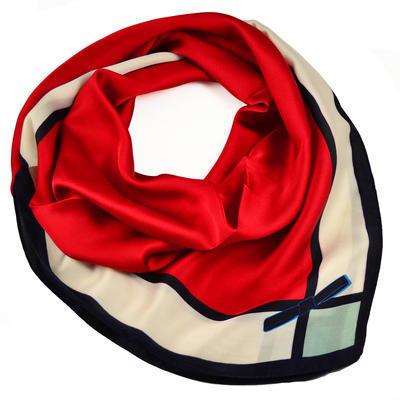 Šátek - červenobílý - 1