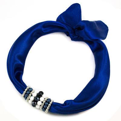 Šátek s bižuterií Letuška 299let001-30 - modrý - 1