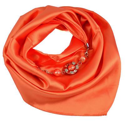 Šátek s bižuterií Stella - oranžový - 1