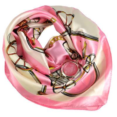 Šátek s bižuterií Stella - bílorůžový - 1