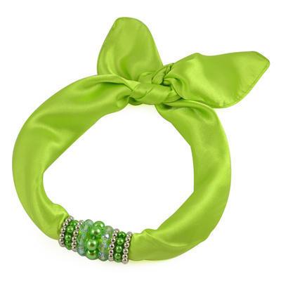 Šátek s bižuterií Letuška 299let001-51 - zelený - 1