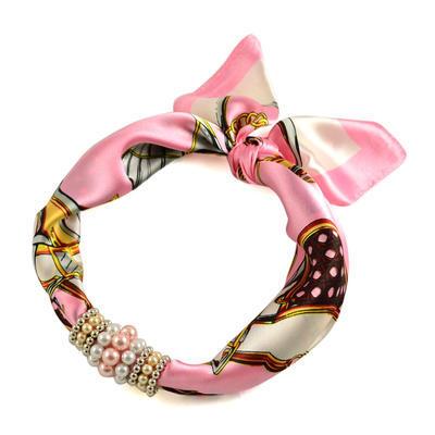 Šátek s bižuterií Letuška 299let009-01.23 - růžový - 1