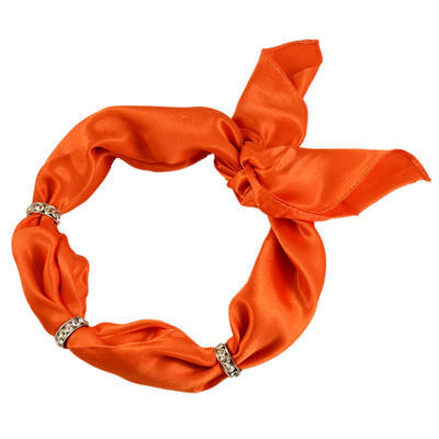 Šátek s bižuterií Sofia 245sof001-11 - oranžový - 1