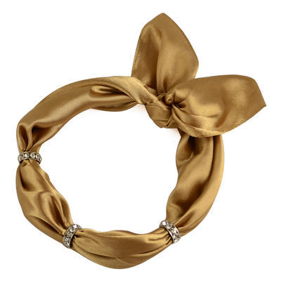 Šátek s bižuterií Sofia 245sof001-13 - zlatohnědý - 1