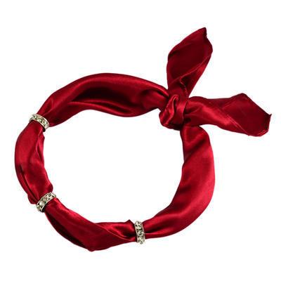 Šátek s bižuterií Sofia 245sof001-22 - vínový - 1