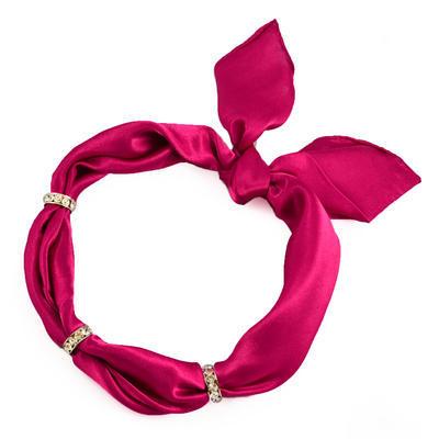 Šátek s bižuterií Sofia 245sof001-25 - fuchsiový - 1