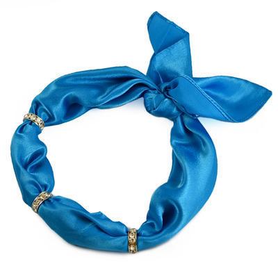 Šátek s bižuterií Sofia 245sof001-30 - modrý - 1