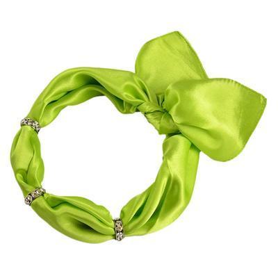 Šátek s bižuterií Sofia 245sof001-51 - zelený - 1