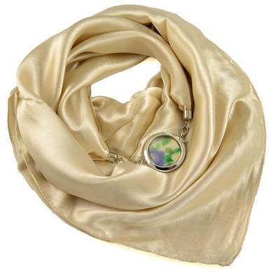 Šátek s bižuterií Stella - béžový - 1