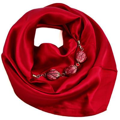Šátek s bižuterií Stella - červený - 1