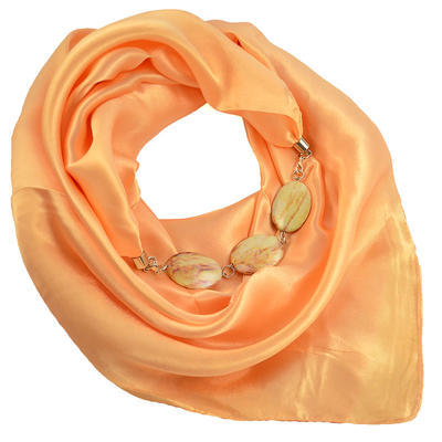 Šátek s bižuterií Stella - meruňkový - 1