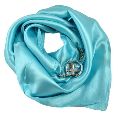 Šátek s bižuterií Stella - tyrkysový - 1