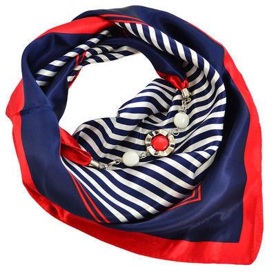 Šátek s bižuterií Stella - modročervený - 1